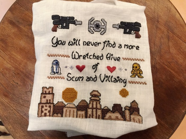 Margaret's Star Wars Cross Stitch Sampler